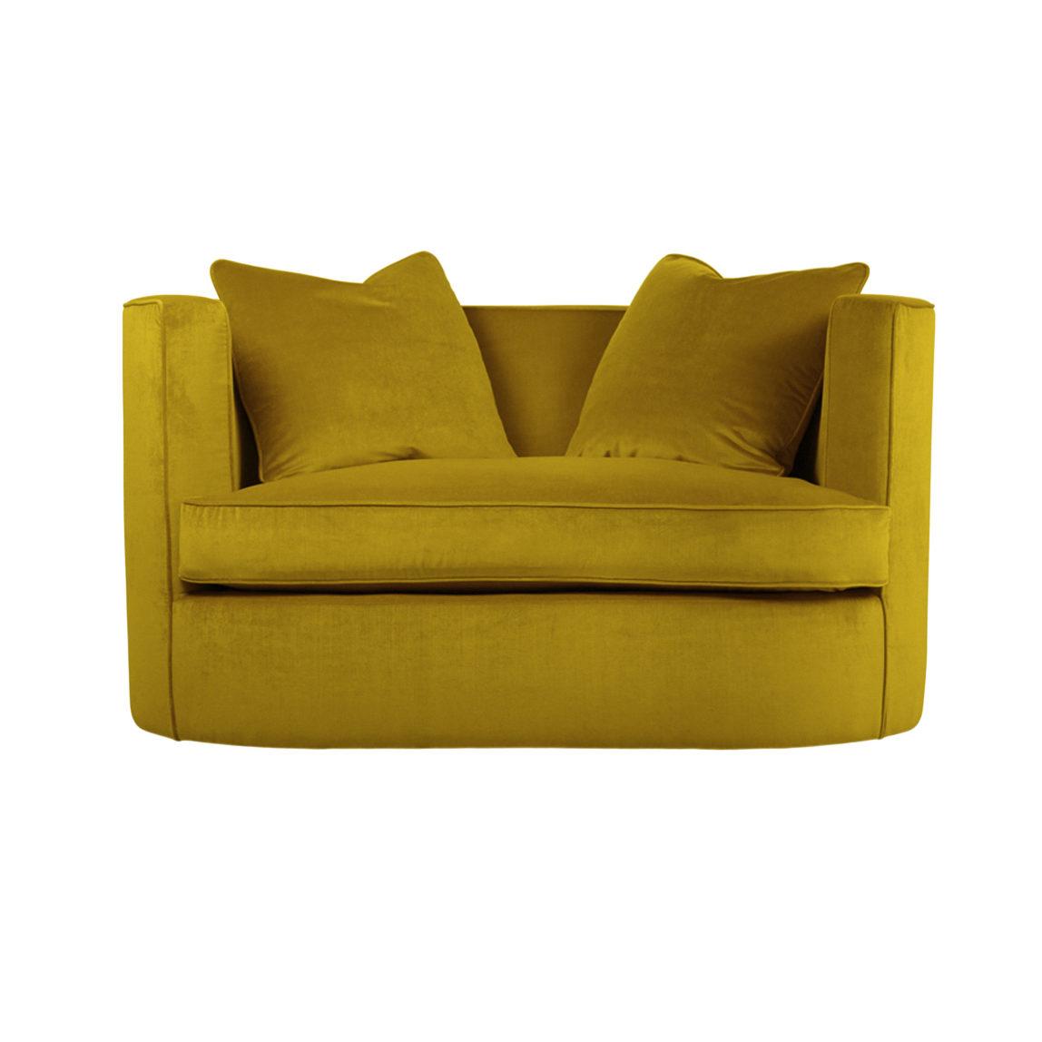 Полукруглый диван для двоих