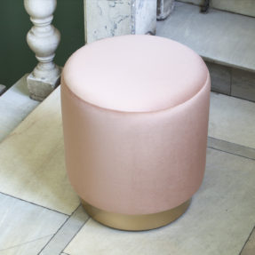круглый пуфик пудровый розовый Louisa Osman munna Kare Design
