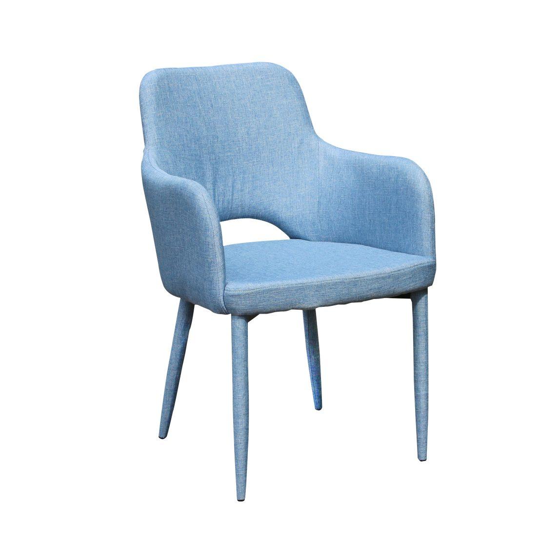 Дизайнерский голубой стул Мирон