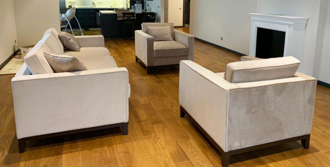 Глубокий диван и кресло на заказ