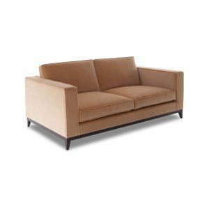 Диван желтый бархатный современный стиль
