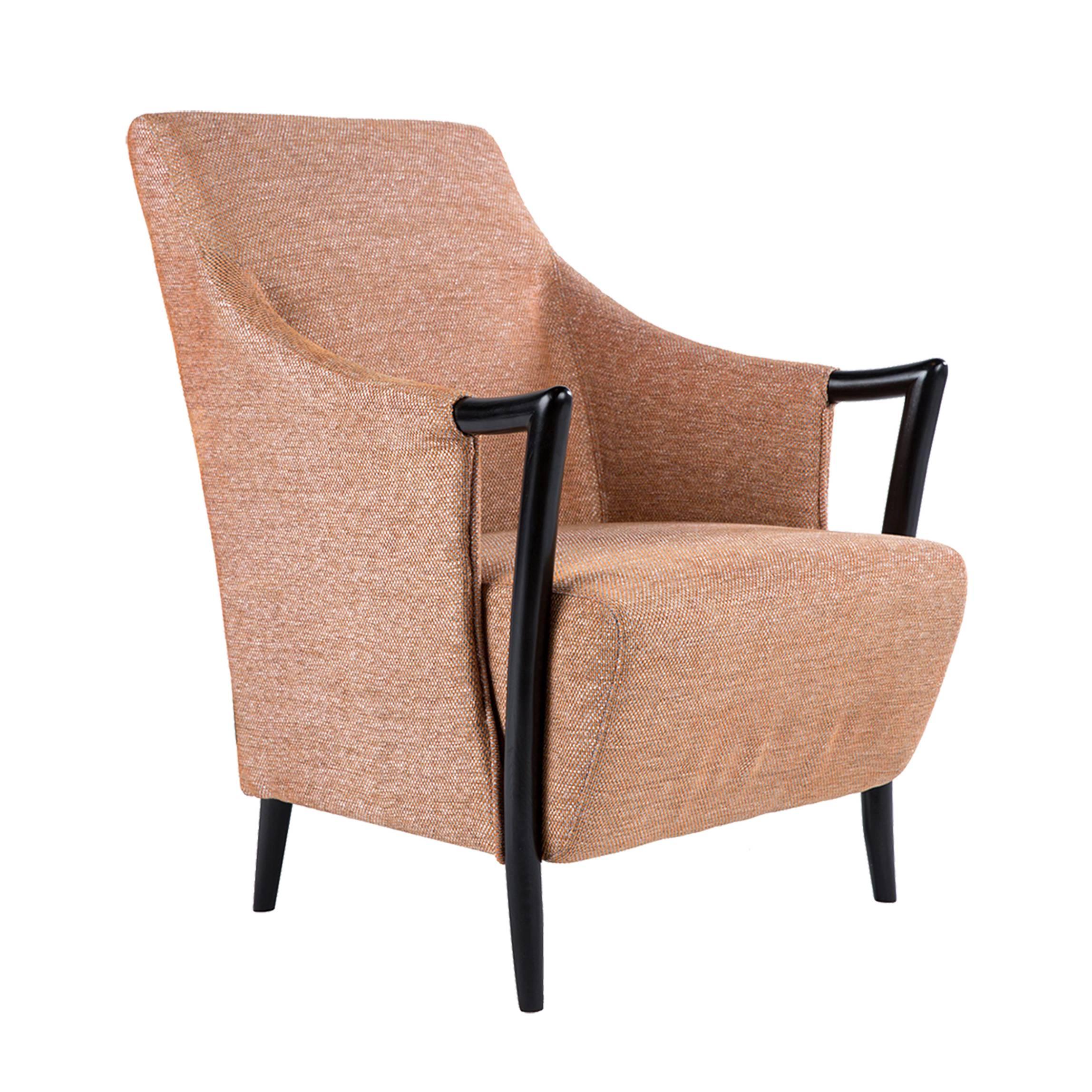 Красивая дорогая мебель, стул с обивкой рыжего оранжевого цвета, реплика (копия) джиорджетти, giorgetti, baker, бэйкер.