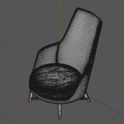 Лавсит 3Д 3d модель Альберт кресло дизайнерское скачать mhliving