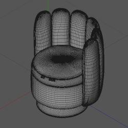Лавсит 3Д 3d модель Гастон кресло дизайнерское скачать