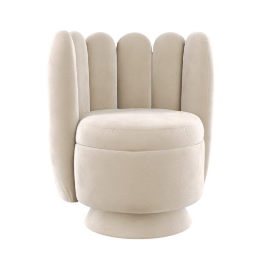 Поворотное ар-деко кресло Гастон. Мягкая дизайнерская мебель