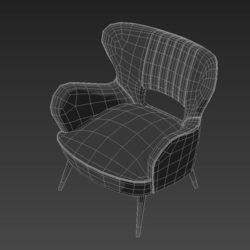 Лавсит 3Д 3d модель Киприан кресло дизайнерское скачать