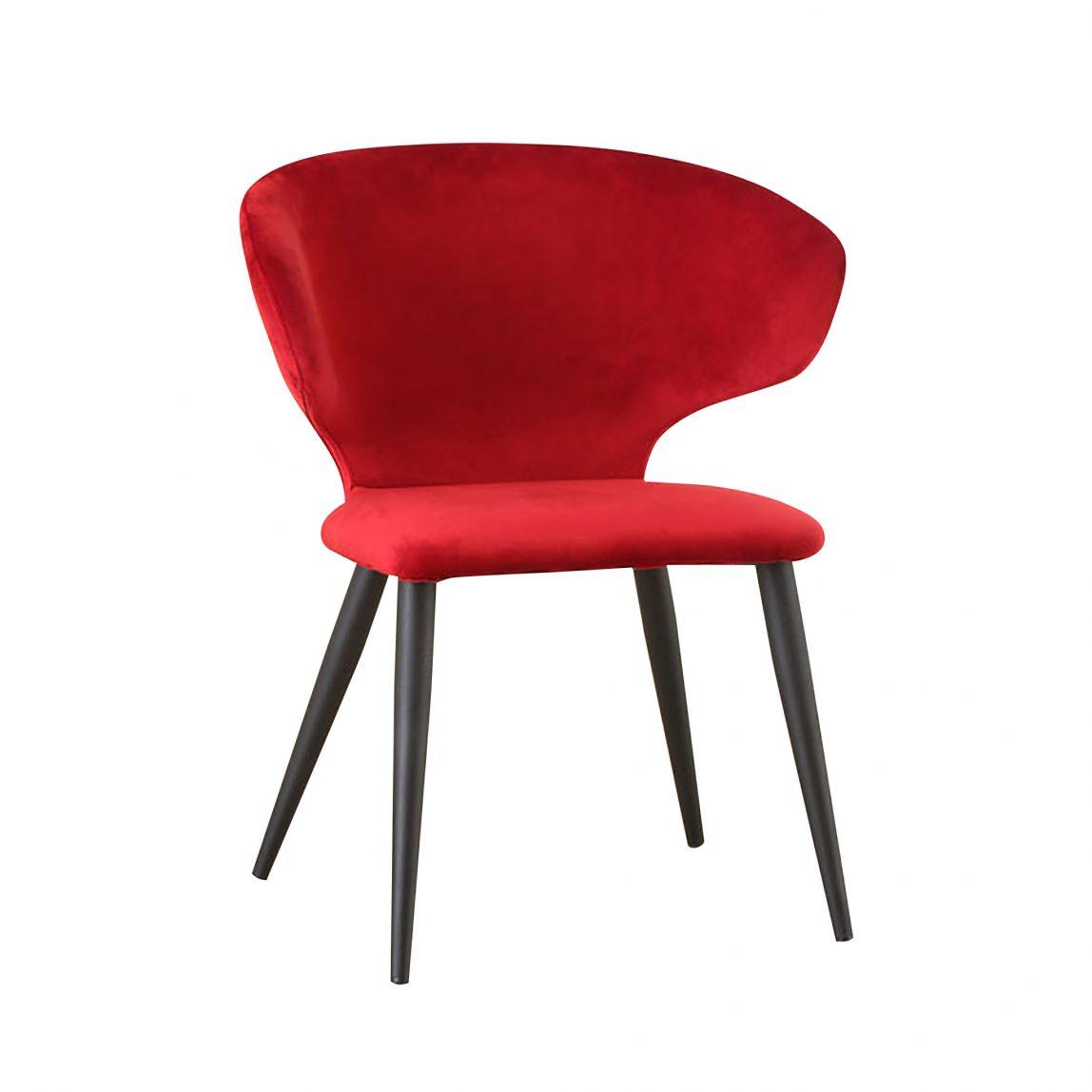 Велюровый красный стул Нил