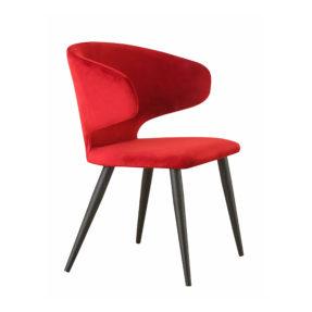 Красный стул в стиле шестидесятых, стул в стиле 60-х, обеденный дизайнерский стул, купить красный стул, бархатный стул, красивый стул российского производства, китайский стул, купить китайскую мебель