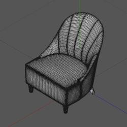 Лавсит 3Д 3d модель Оскар кресло дизайнерское скачать