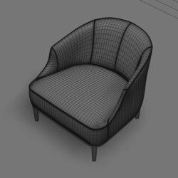 Лавсит 3Д 3d модель Стефан кресло дизайнерское скачать