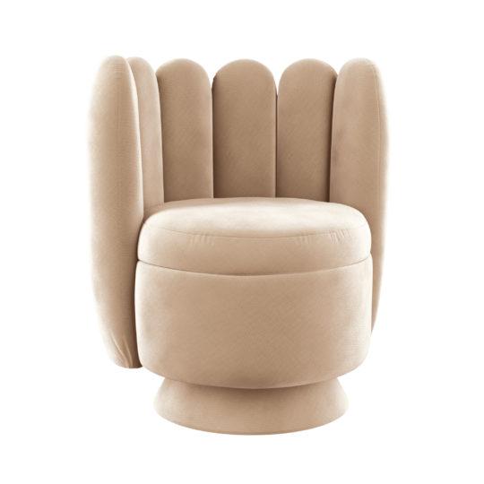 дизайнерское круглое кресло в бутик