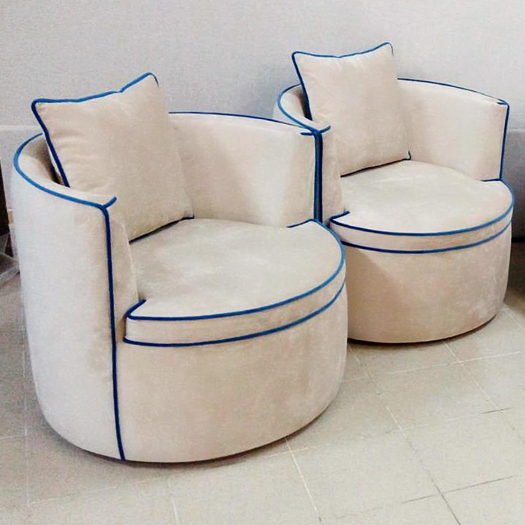 Круглое поворотное кресло