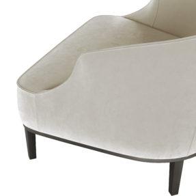 акцентное белое кресло ар-деко для зала