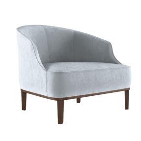 Невысокое ар-деко кресло Стефан. Современное кресло в гостиную