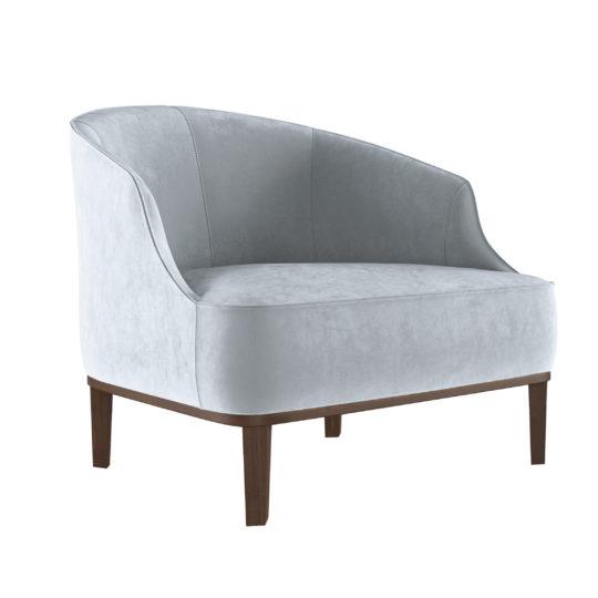 Красивая дорогая акцентная мягкая мебель для ювелирного магазина бутика, элегантное светло-серое серое белое бархатное кресло, дизайнерское кресло из бархата, мебель белого серого цвета, кресло из бархата, итальянский дизайн, мебель в стиле ардеко, арт деко, реплика (копия), реплика фабрики Лонги Лонгхи, купить удобное кресло, кресло для гостиной, будуарное кресло, кресло для гардеробной комнаты, кресло для спальни, кресло для детской комнаты, бархатное кресло, Стефан, мягкая мебель российского производства, кресло в современном стиле редкое, вычурное, люкс, лакшери, на заказ