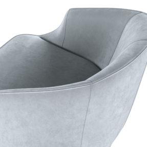 бархатное дизайнерское кресло для гостиной