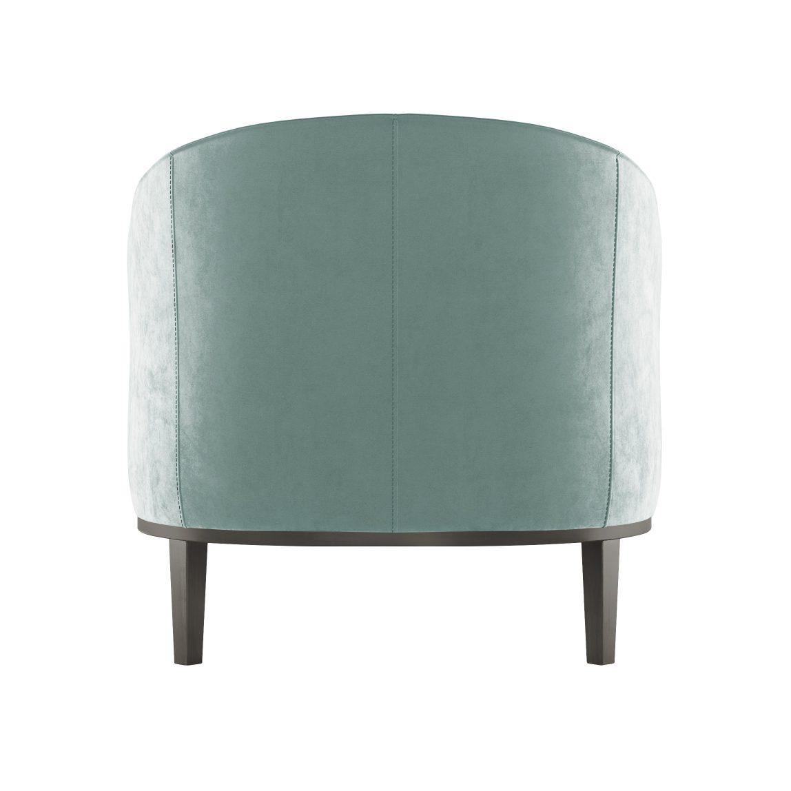 дизайнерское мягкое кресло со спинкой