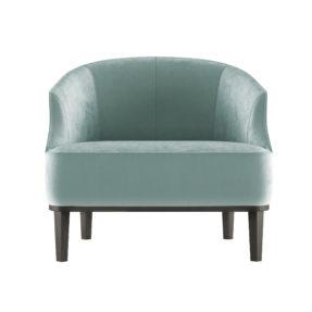 интерьерное кресло для ресторана в бархате