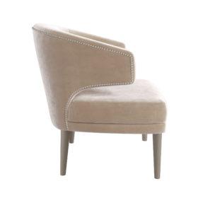 Бежевое ар-деко мягкое кресло