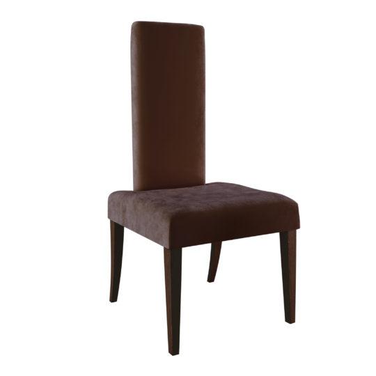 Стул Герман бархатный дизайнерский оригинальный с прямой спинкой мягкий деревянные ножки бордовый темно коричневый купить на заказ