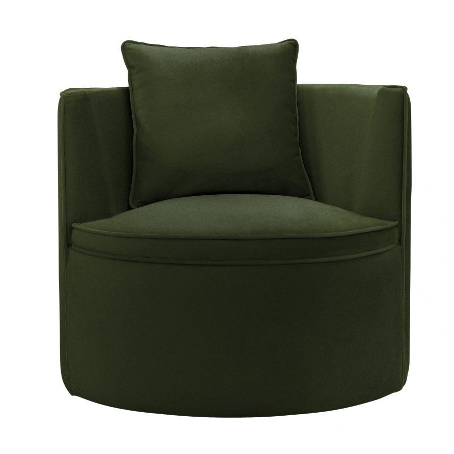 просторное круглое поворотное кресло frigerio копия
