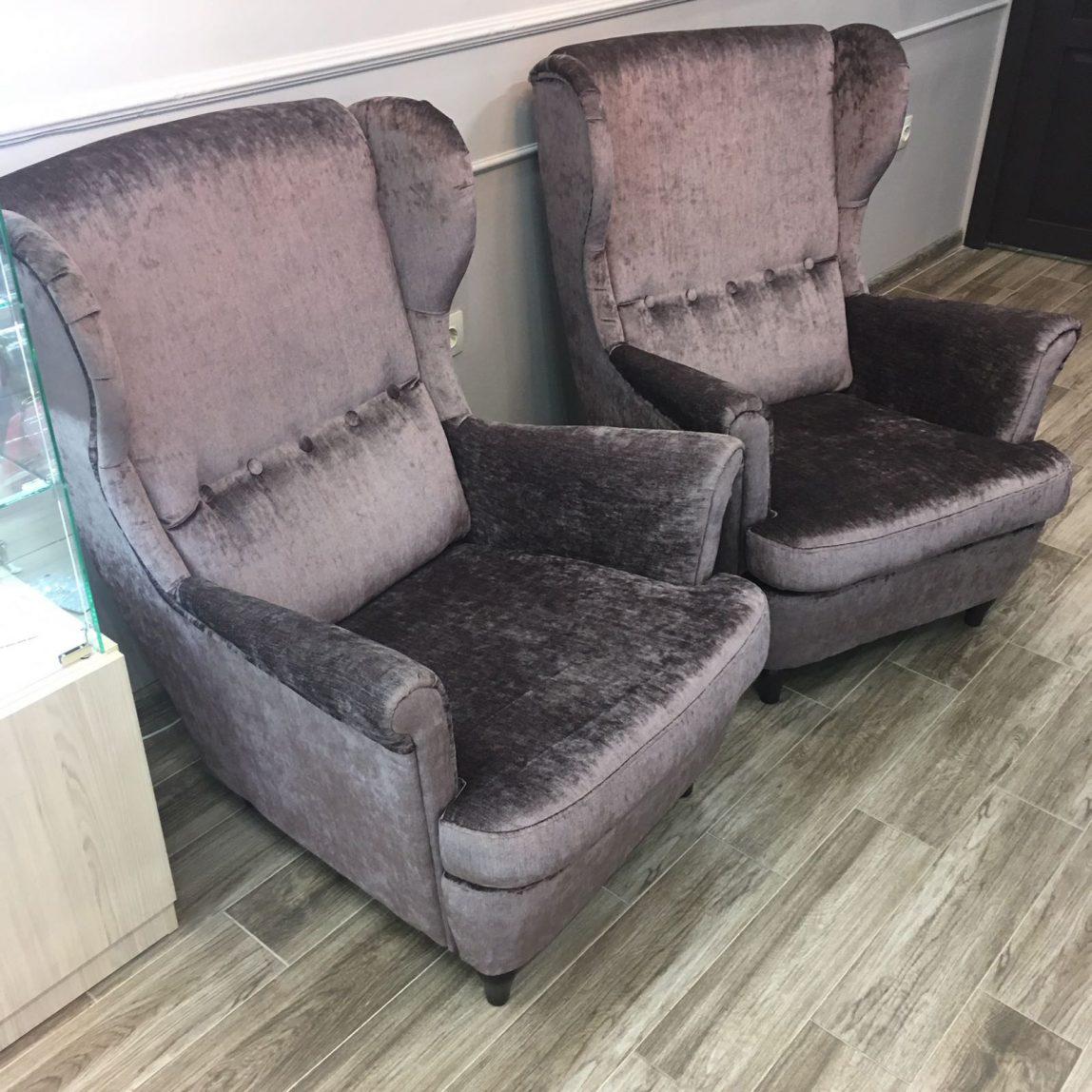 Кресло Страндмон Strandmon каминное с высокой спинкой