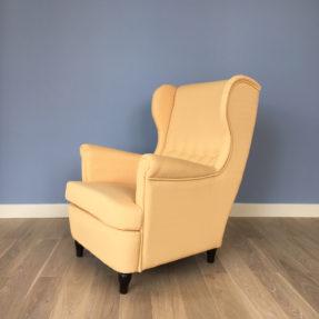 Желтое кресло Ikea икея Страндмон Strandmon