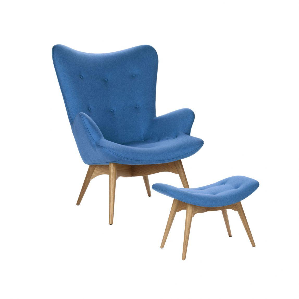 Кресло Contour с оттоманкой (банкеткой)