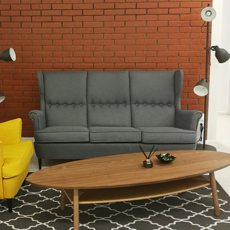 LAVSIT_divan_Strandmon_sofa_gray