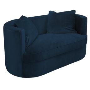 Маленький синий двухместный диванчик