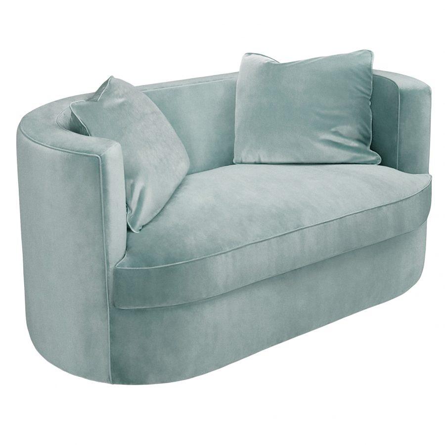овальный маленький диван sofaandchair зеленый на заказ