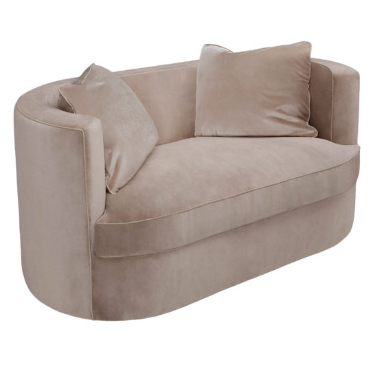 полукруглый диван бежевый