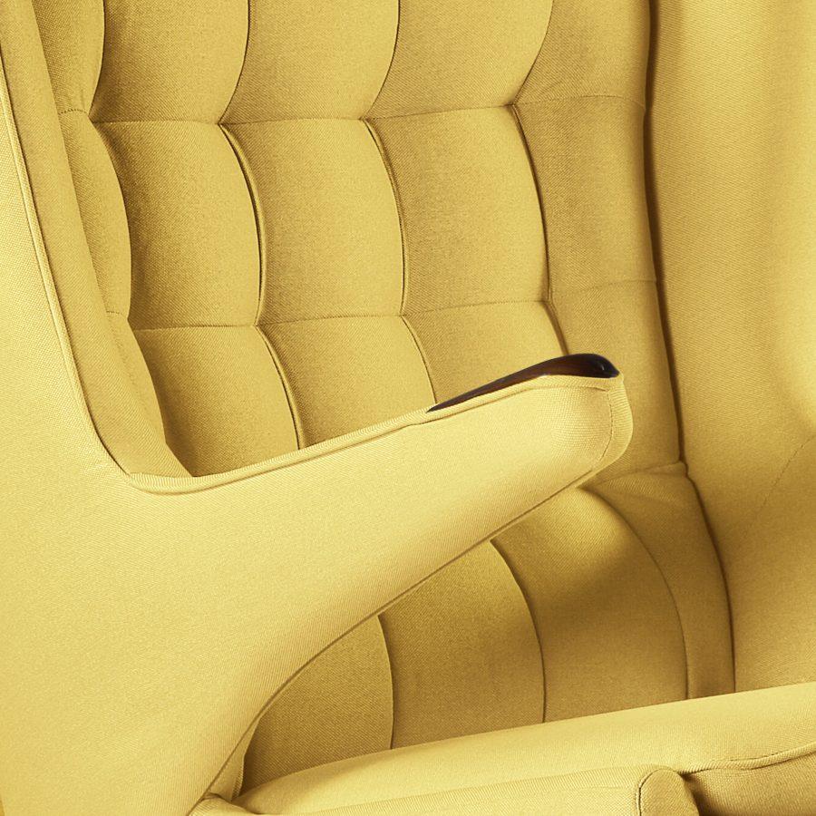 papa bear кресло в скандинавском стиле рогожка желтое