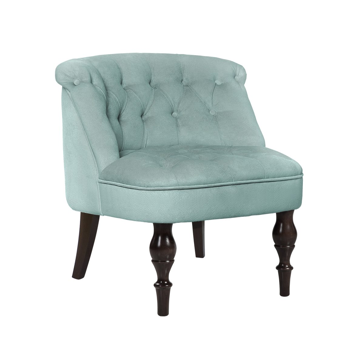 Будуарное мятное кресло Поль