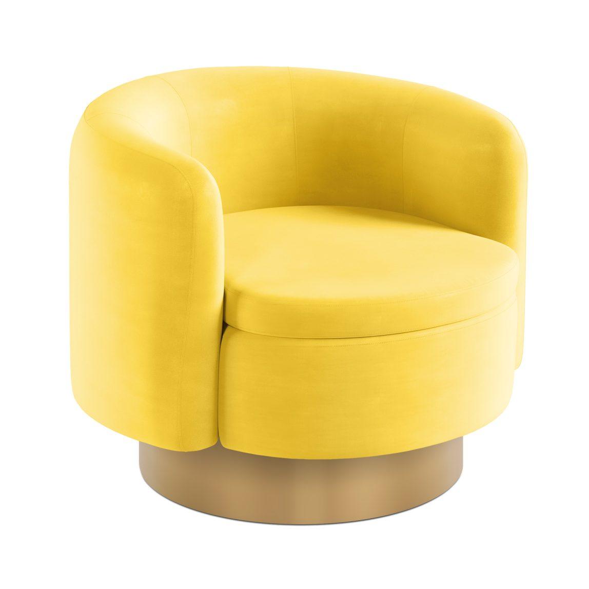 Круглое кресло на цоколе Соломон