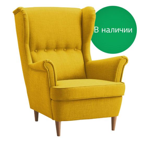 Страндмон желтое кресло икея