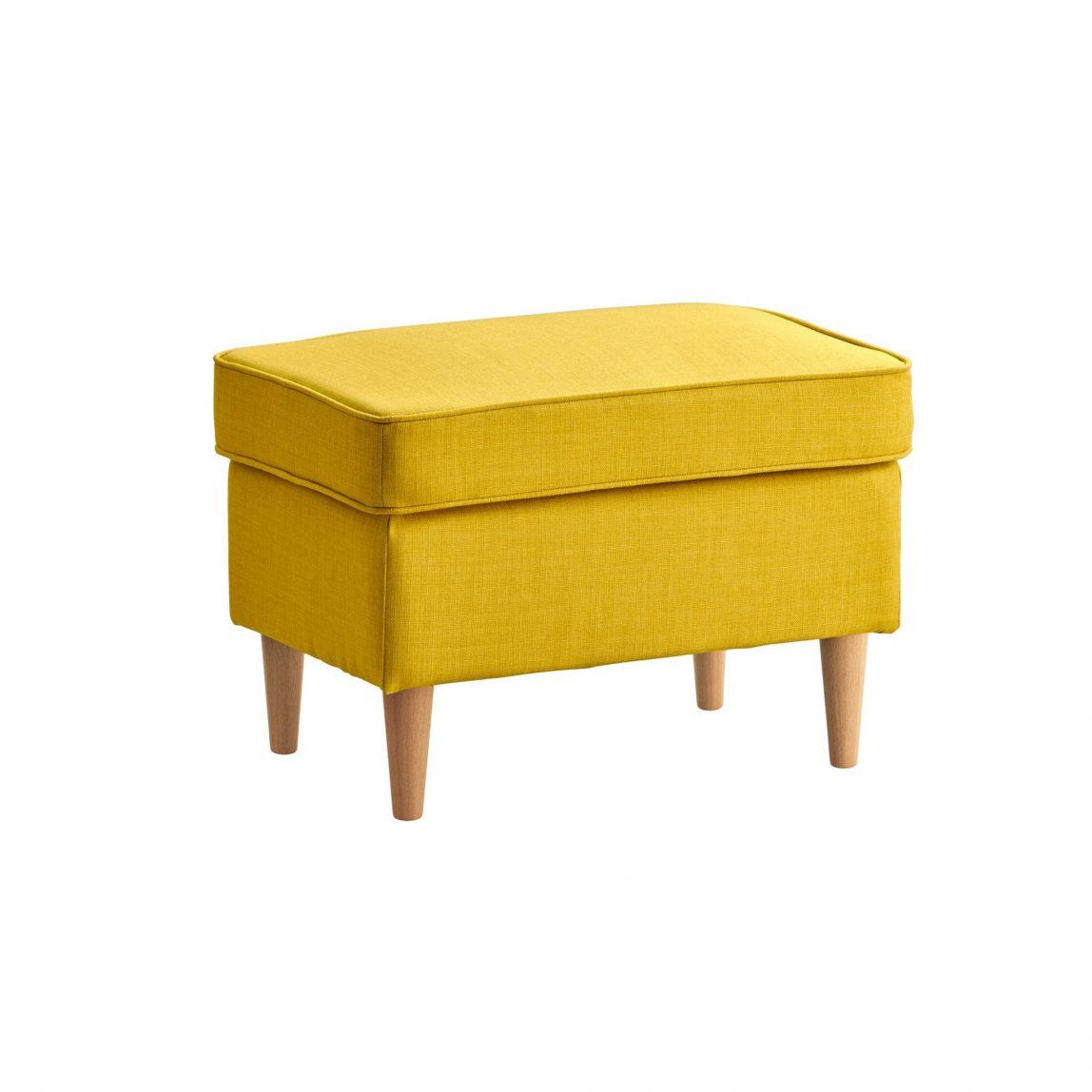 Желтая банкетка в скандинавском стиле «Торн»