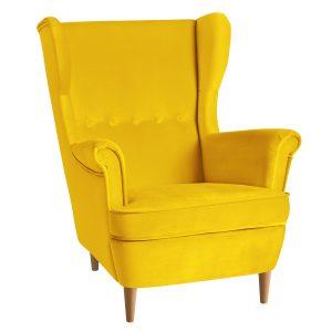 Кресло Торн в желтом велюре
