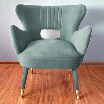 Элегантное зеленое кресло ручной работы