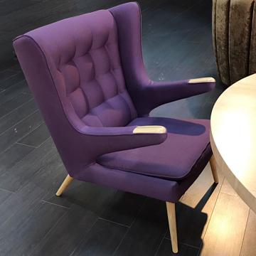 papa bear кресло фиолетовое дизайнерское
