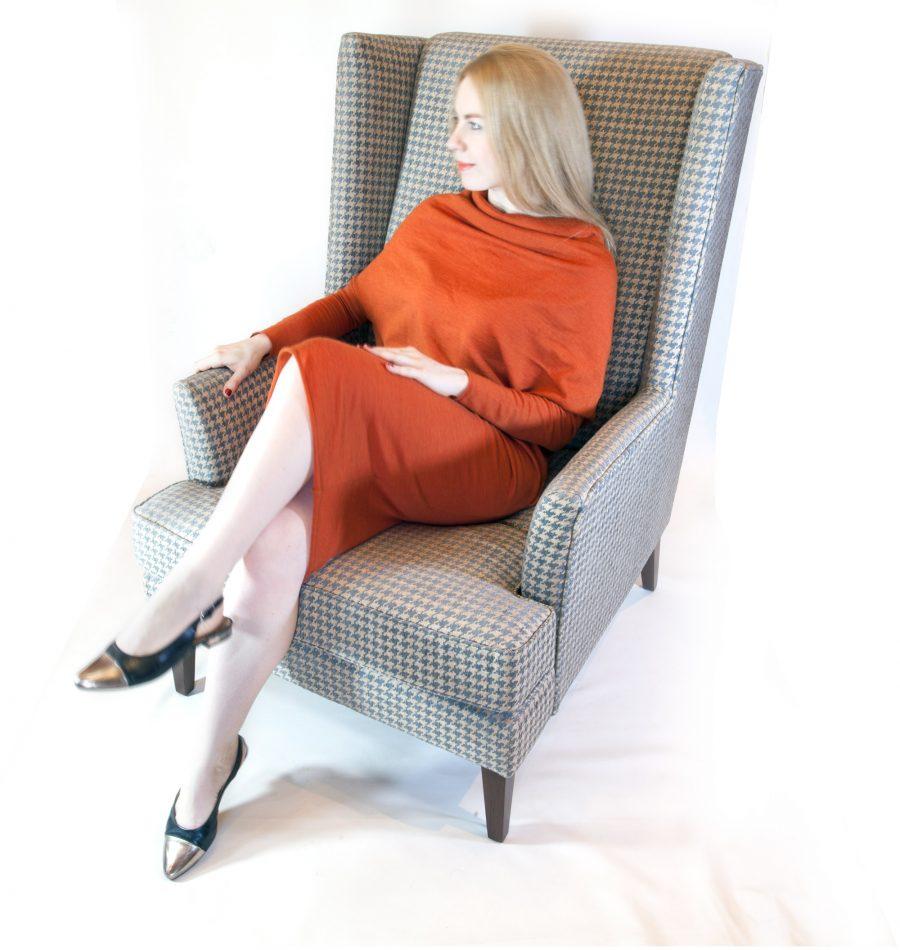 Кресло для отдыха с высокой спинкой Харви