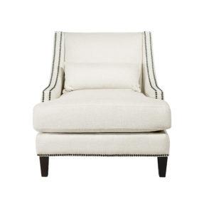Кресло для отдыха белое мягкое