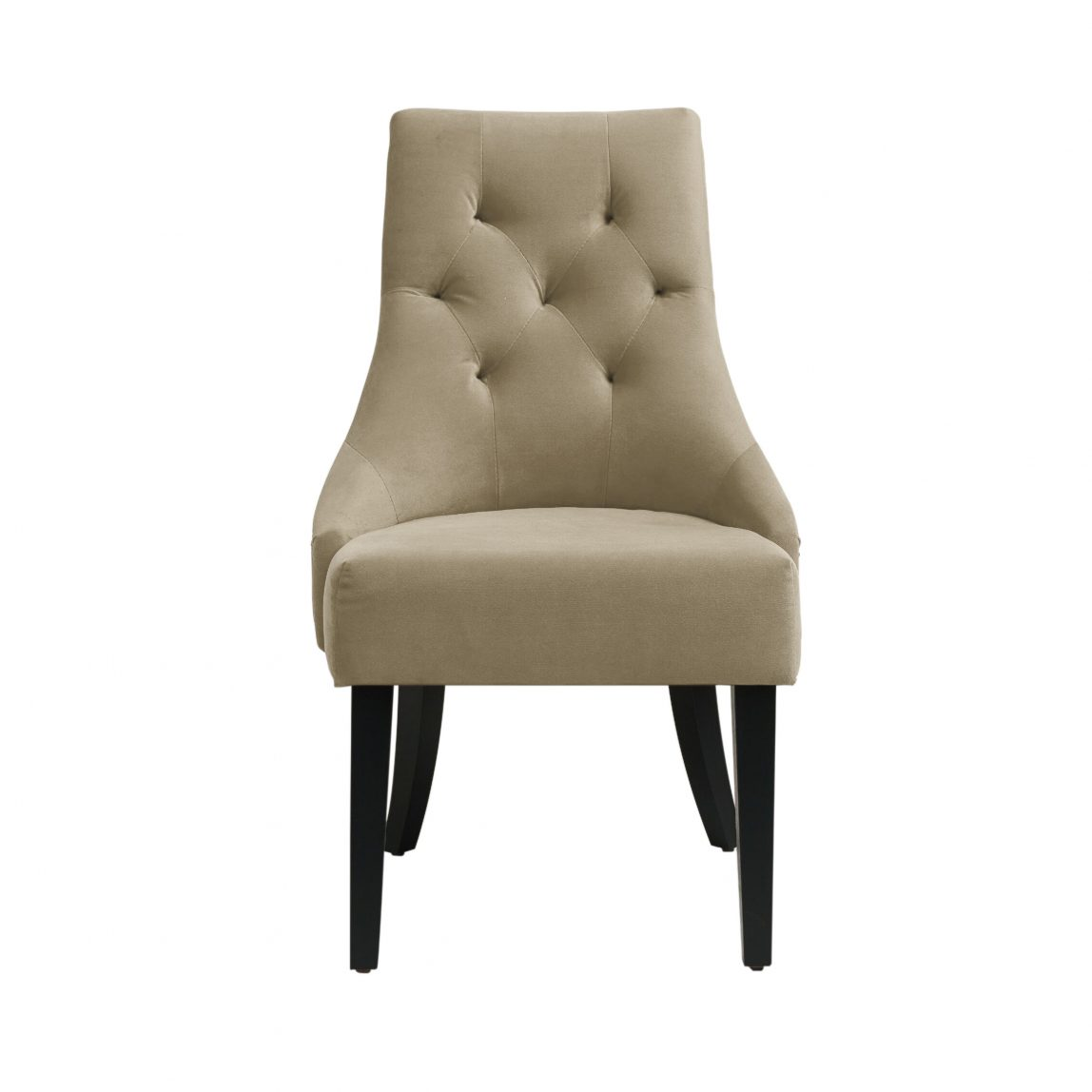 Дизайнерский стул baker bayron байрон арт-деко бежевый с капитоне