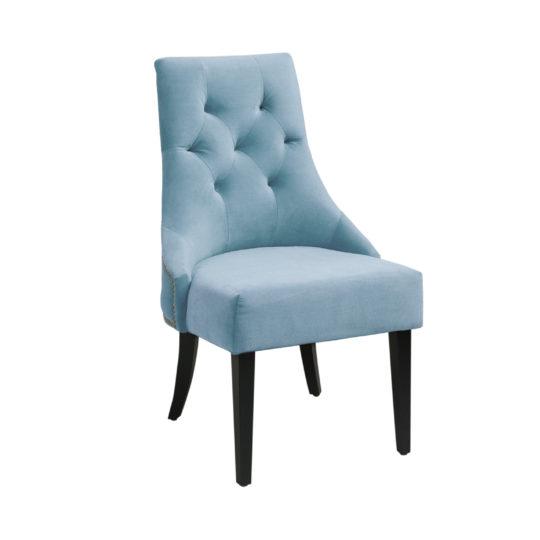 Обеденный дизайнерский бархатный стул baker bayron байрон синий