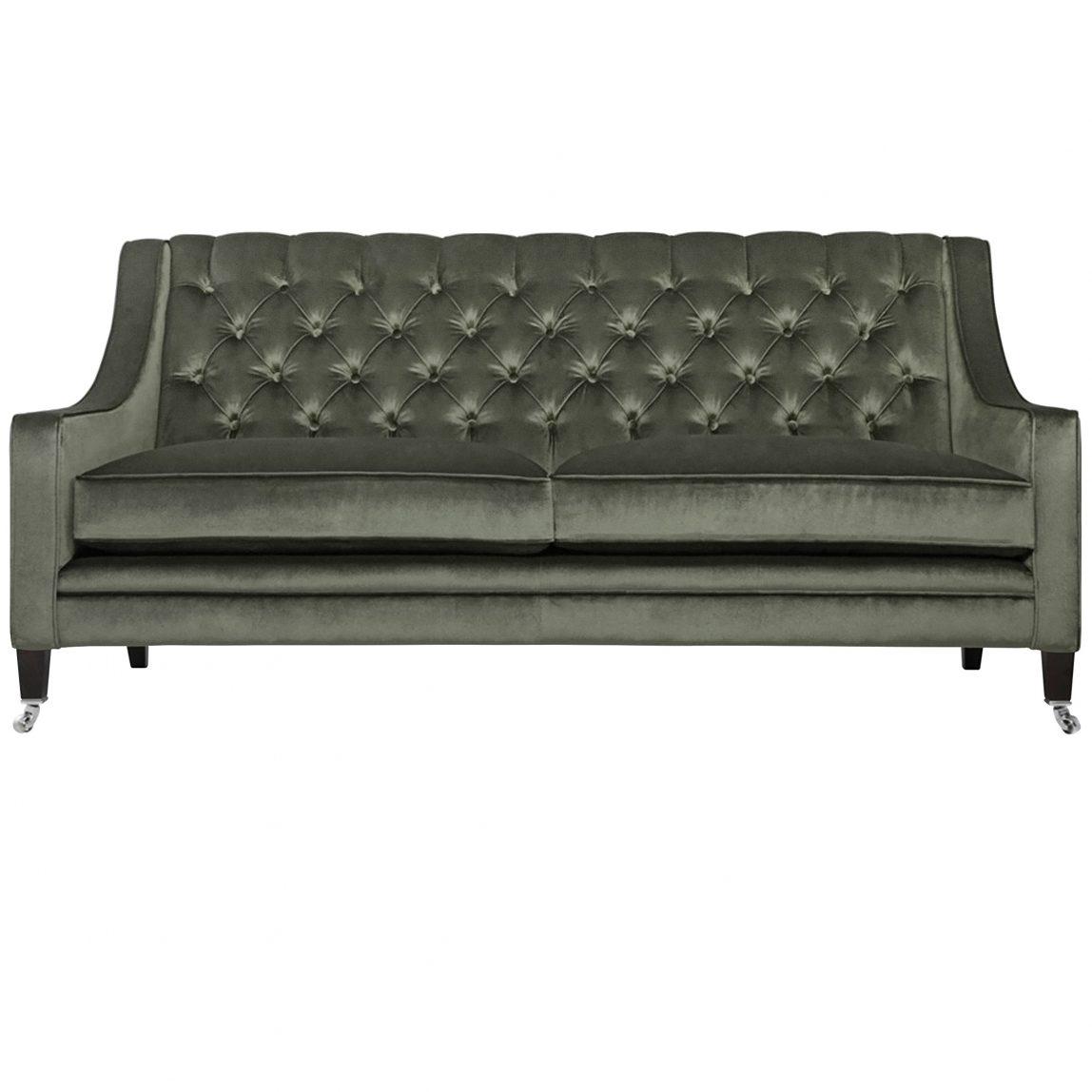 Бархатный дизайнерский зеленый диван Лавсит на заказ