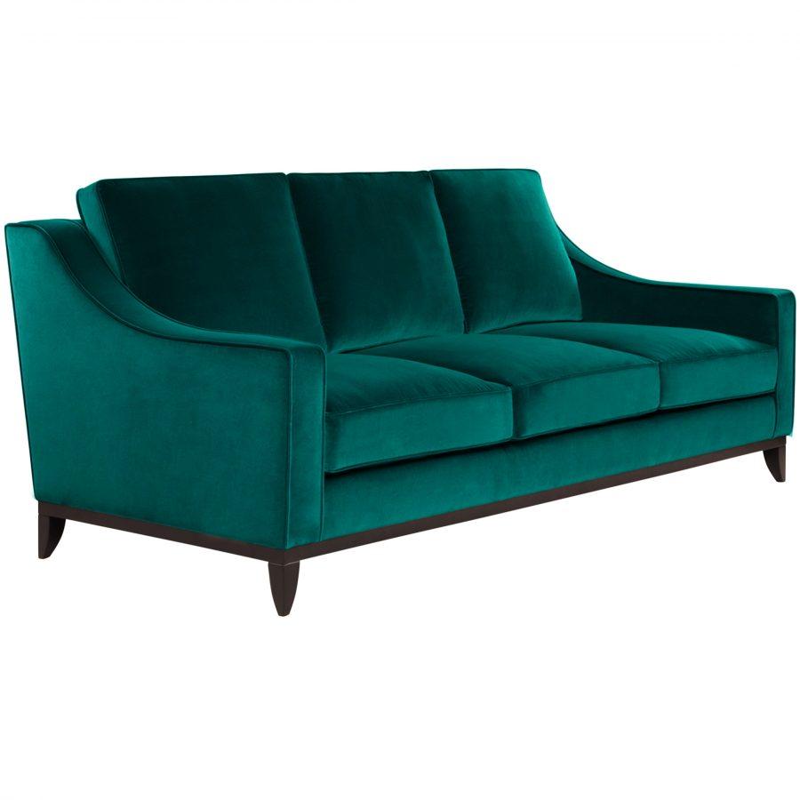 Современный дизайнерский зеленый диван на ножках