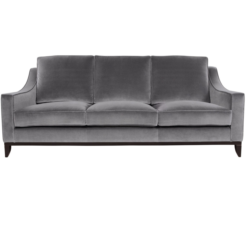 Стильный дизайнерский серый диван в американском стиле