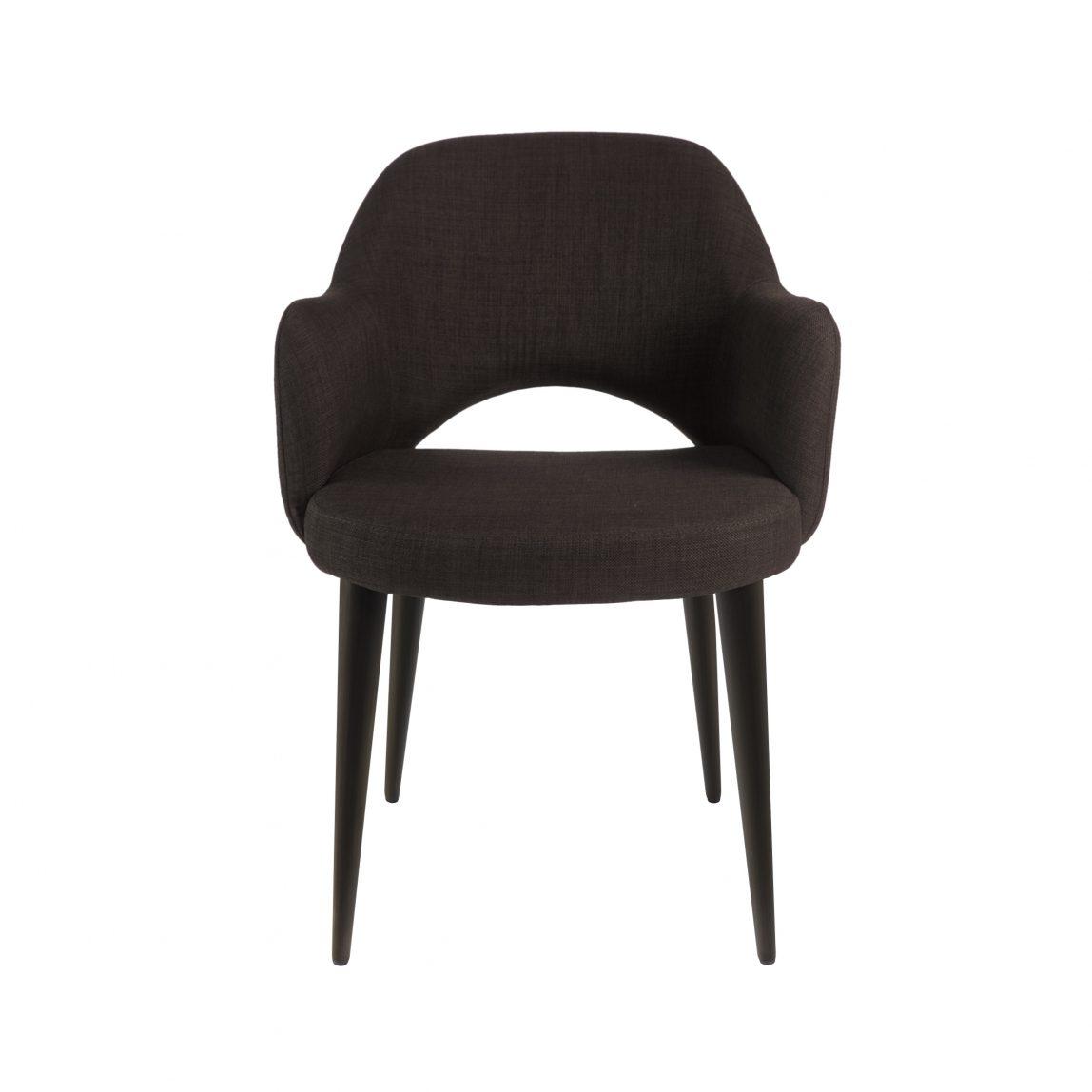 Современное полукресло обеденный коричневый стул Martin Мартин Deephouse (дипхаус) рогожка