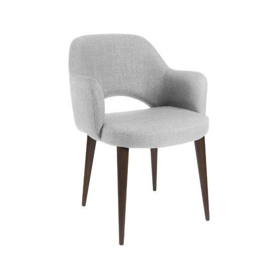 Современное полукресло обеденный стул Martin Мартин Deephouse (дипхаус) серый рогожка