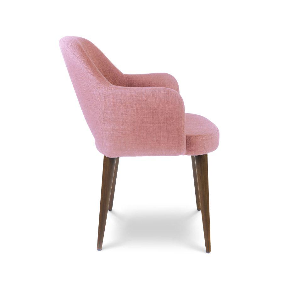 Современное полукресло обеденный розовый стул Martin Мартин Deep house (дипхауз) лен